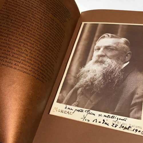 Book. Casting Shadows, Auguste Rodin. Folio Edition. Silkscreened, Letterpress. WRITING, PHOTOGRAPHY, PRODUCTION.